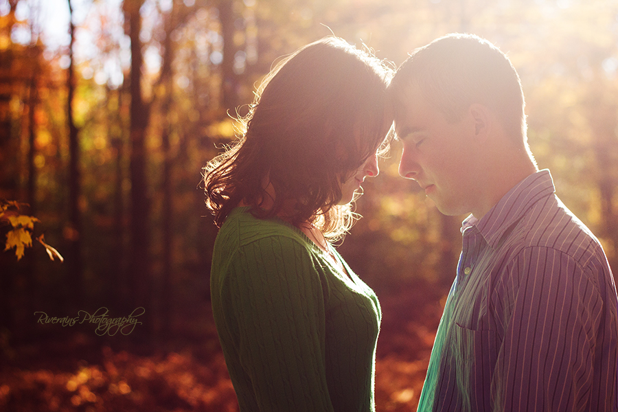 backlit beautiful engagement pictures