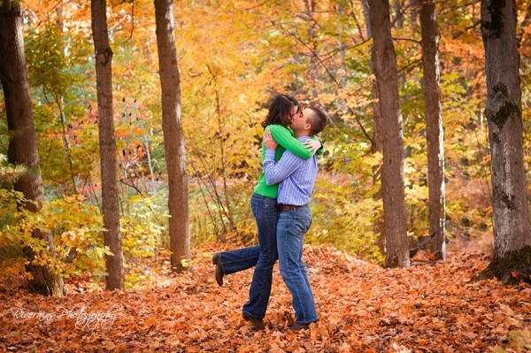 country couple engaged michigan