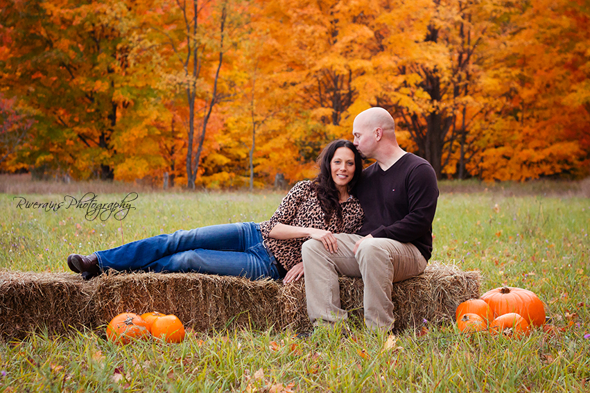fall color family photo session