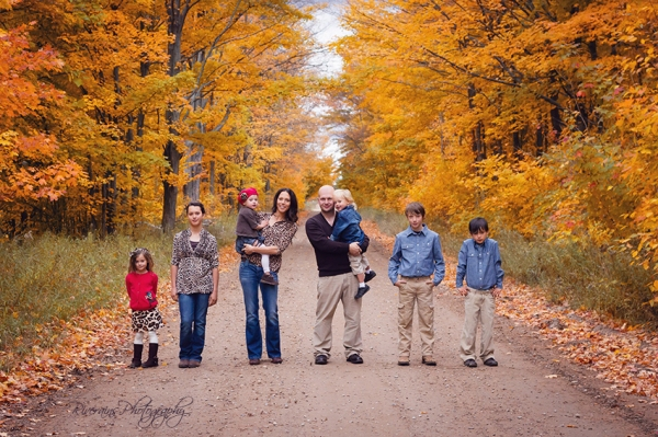 fall family photographs kalkaska