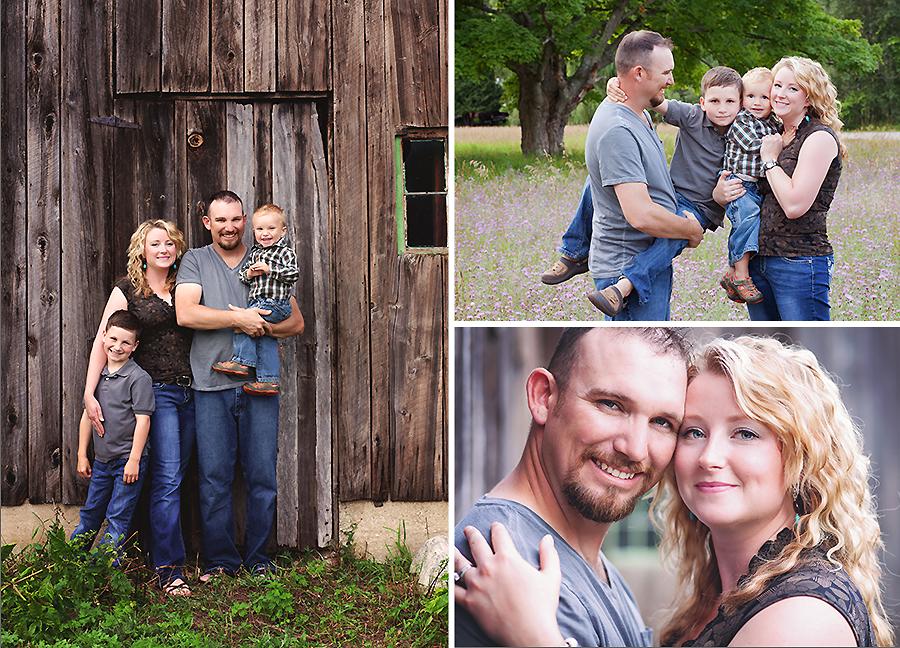 Fun Photo Shoot on Family Farm in Michigan