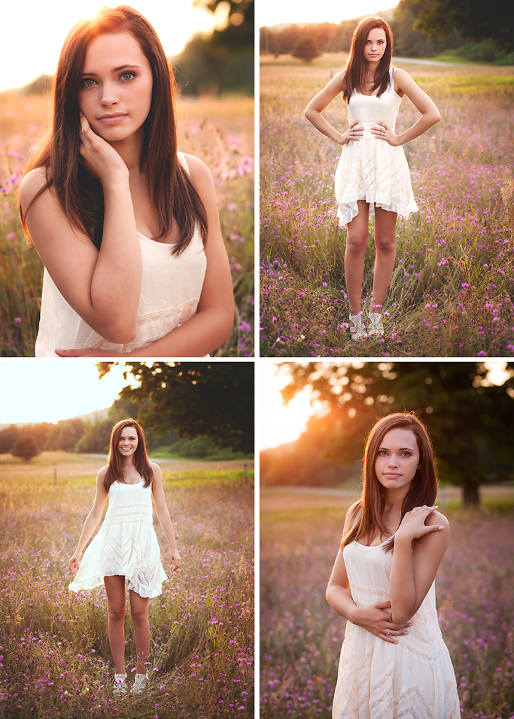 Summer Sunlit Senior Session Michigan Photography