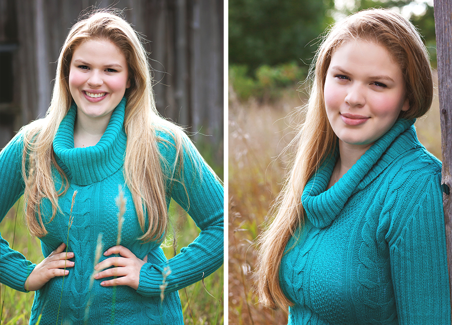 Long hair senior girl outdoor photo shoot