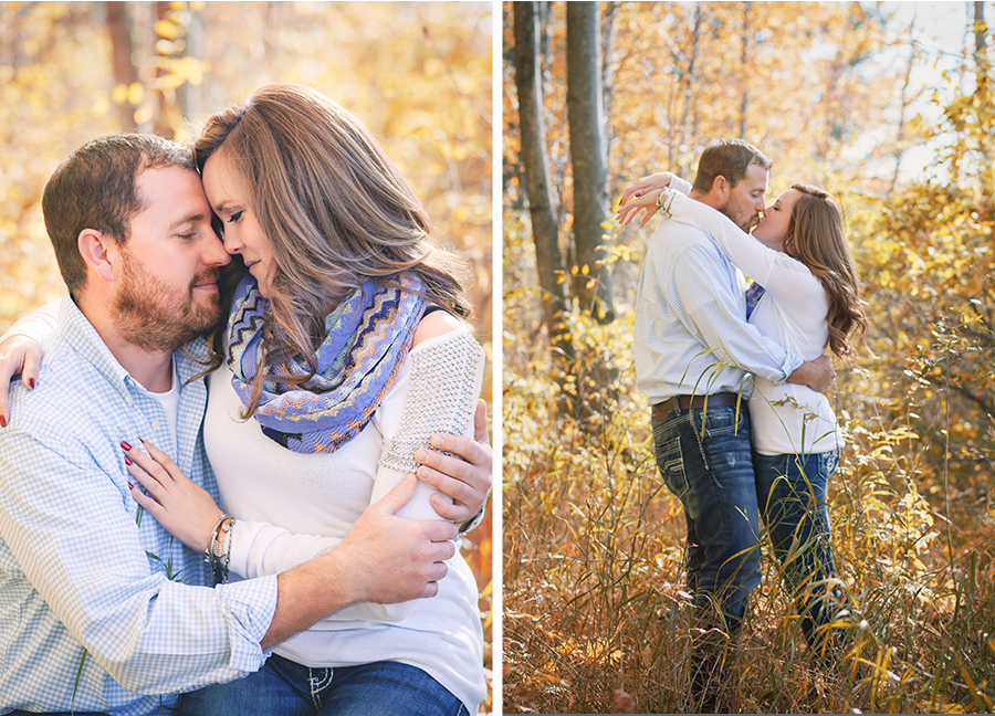 Couples Engagement Autumn Northern Michigan Photography