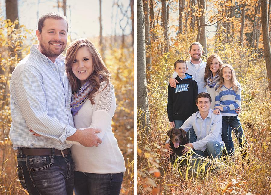Fall outdoor family photo shoot michigan beauty