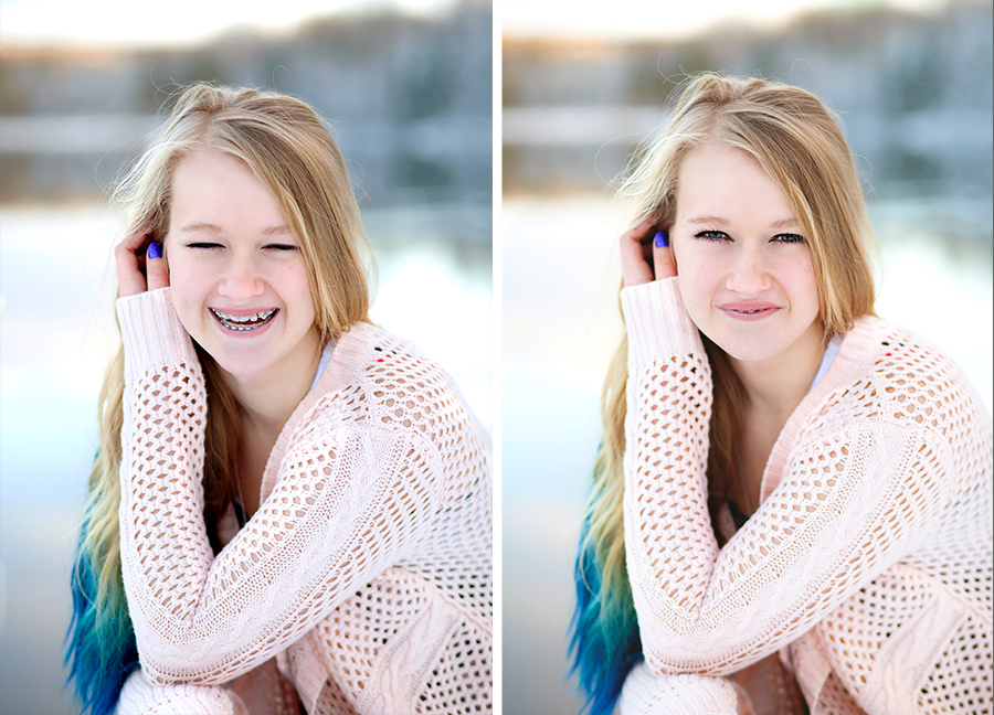 Beautiful Portraits Michigan Natural Light Photographer Girl Blue