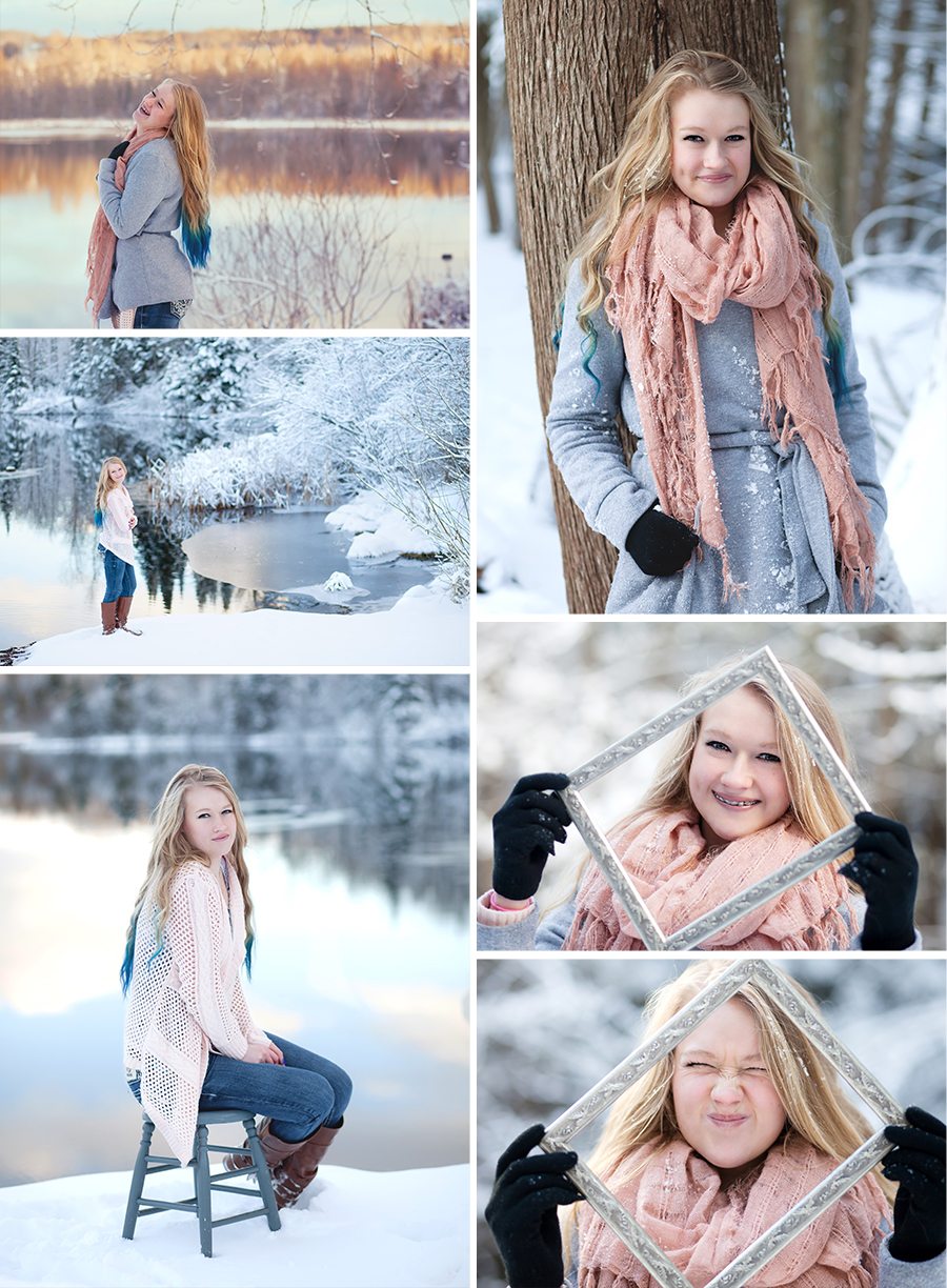 Cold Day Ideas for Senior Portraits Torch Lake Photographer