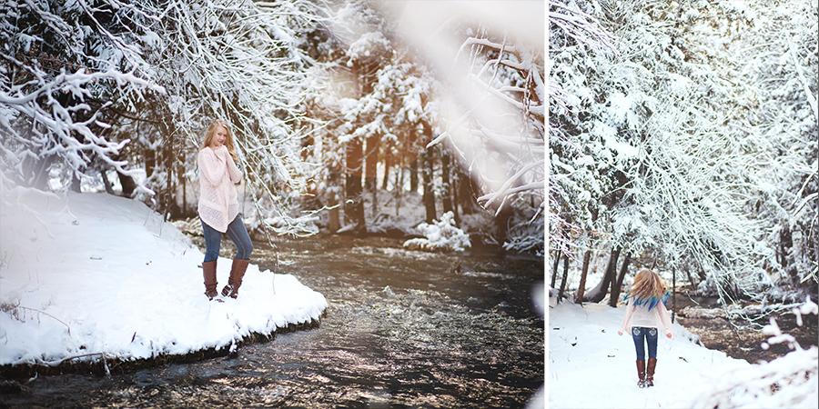 Snow Stream Winter Scene Kalkaska Senior