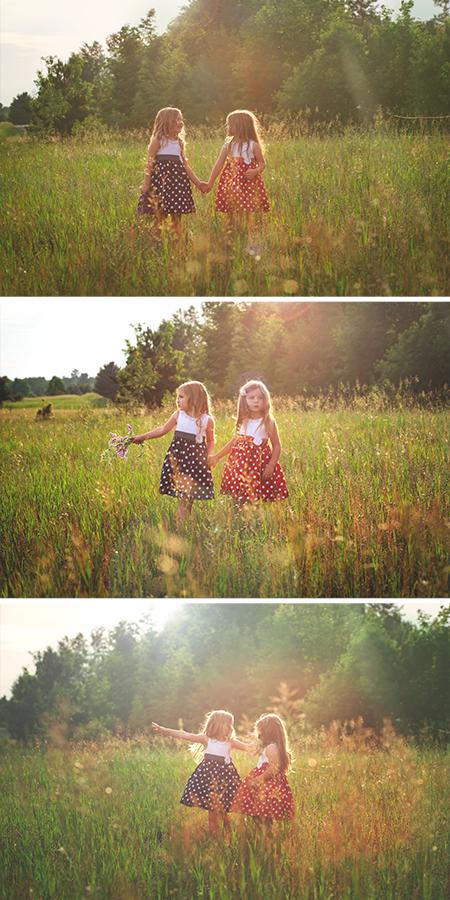 summer sun sunflare photoshoot in a field torchlake michigan