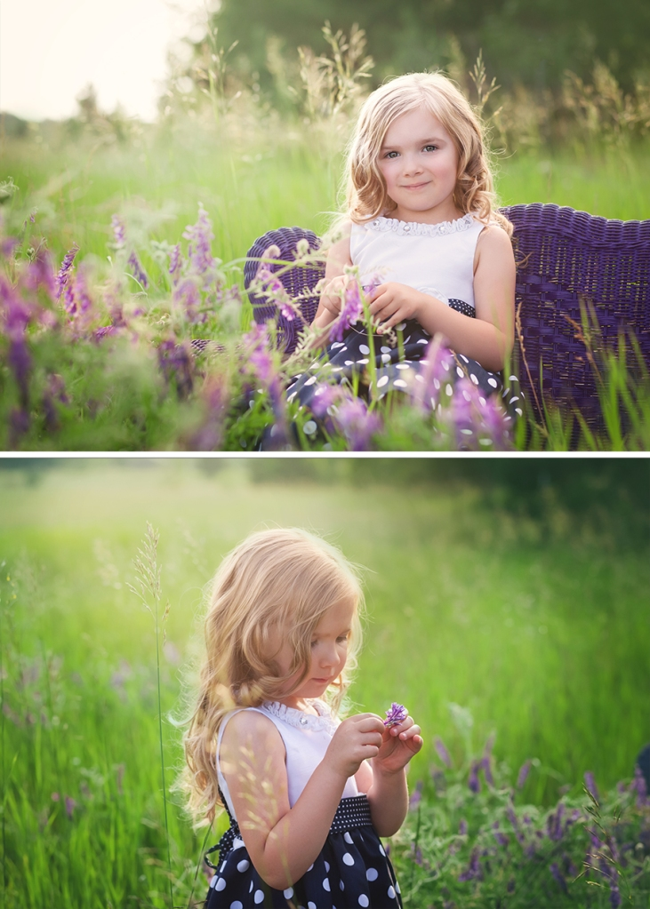 traverse city photographer purple flower field sister photoshoot