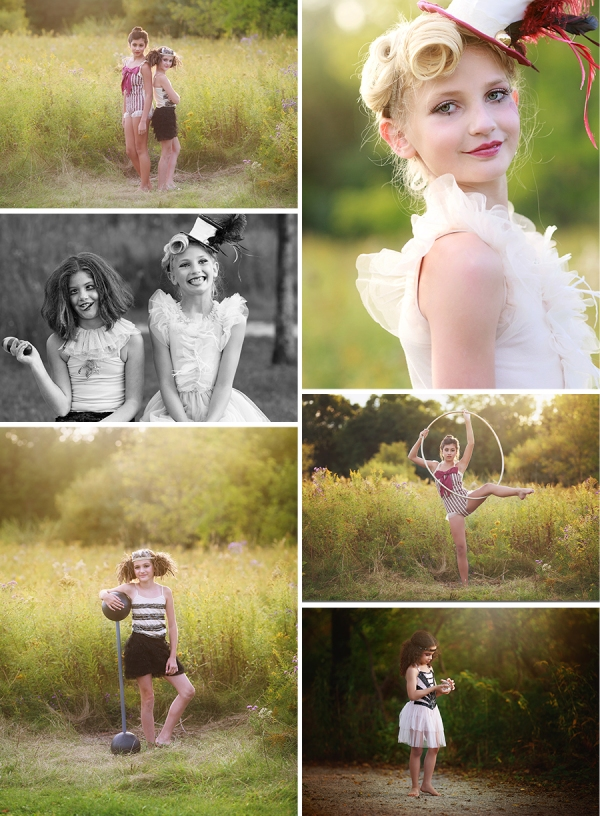 Concept photo shoot circus theme michigan photographer fun
