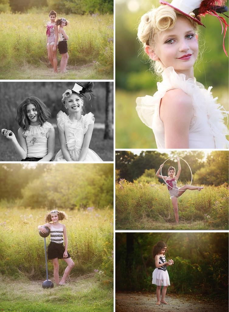 Concept photo shoot circus theme michigan photographer fun