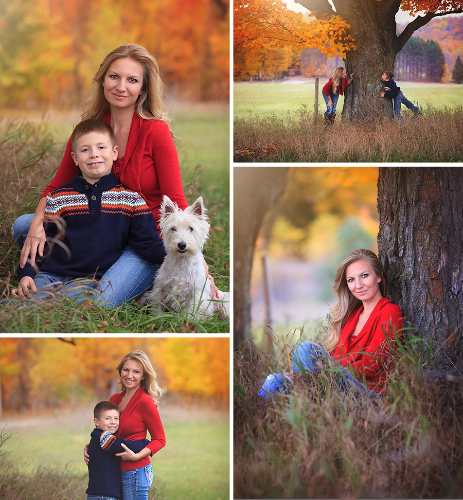 Mother Son Love Family Fun Fall Color Traverse City Photo Session