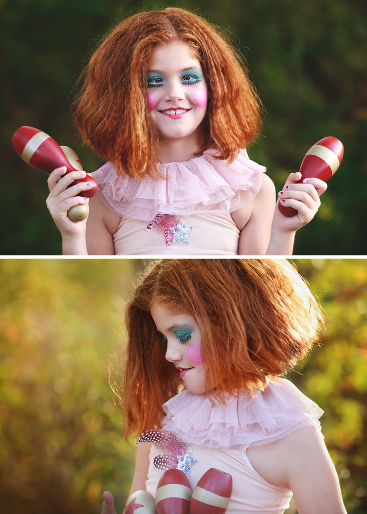 Styled Childrens Portraiture Circus Red Hair