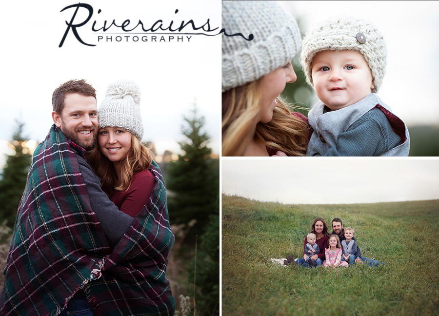Christmas tree farm family photos grayling photographer