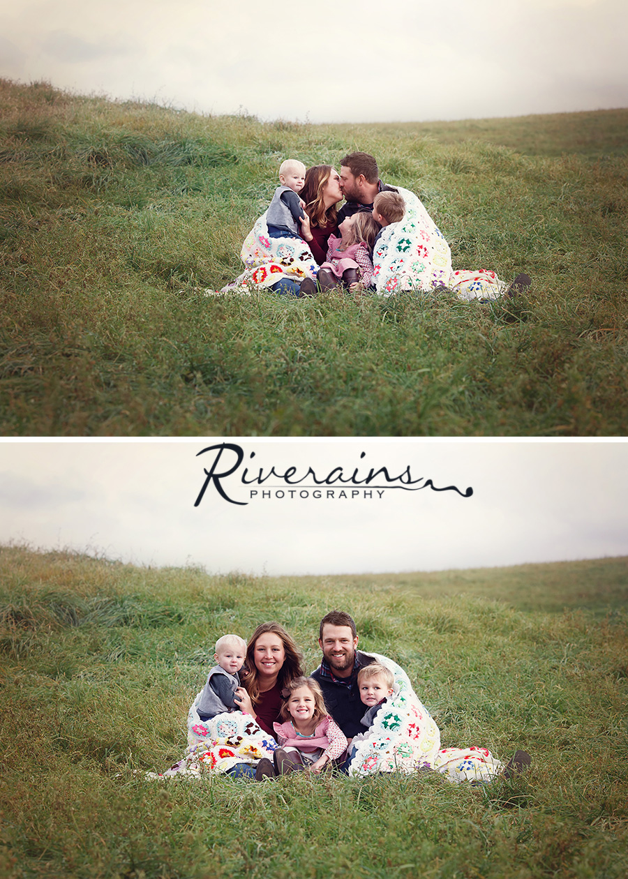 family in Field northern michigan photographer
