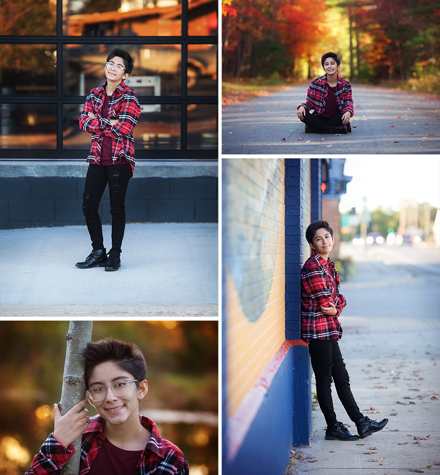 Senior Photo Shoot Grayling Michigan Fall