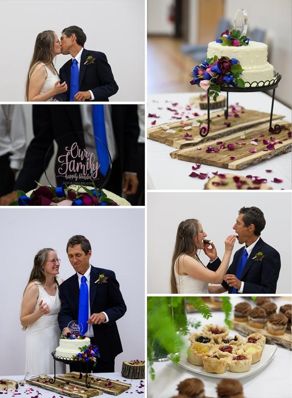 Reception Bride Groom Cake Sweet Washington Wedding